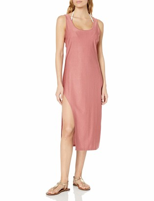 Kenneth Cole New York Women's Asymmetrical Tank Dress Swimsuit Cover Up