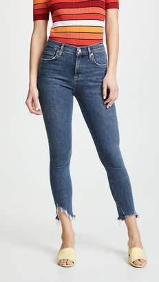 A Gold E AGOLDE Hi Rise Sophie Skinny Crop Jeans