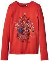 Catimini Girl's SPIRIT ETHNIQUE Plain T-Shirt,(Manufacturer size: 5 ans)