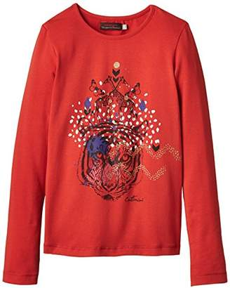 Catimini Girl's SPIRIT ETHNIQUE Plain T-Shirt,(Manufacturer size: 6 ans)