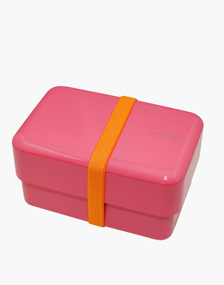 Madewell Takenaka Rectangle Bento Box and Chopsticks in Power Pink