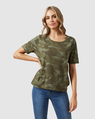French Connection Camo Tee