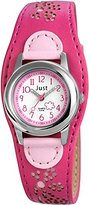 Just Watches Girl's Quartz Watch with Faux Leather 48–S3912–PI