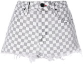 Alexander Wang checkered denim shorts