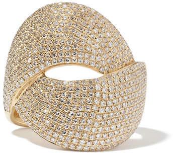 Anne Sisteron Diamond Luxe Twist Yellow-Gold Ring