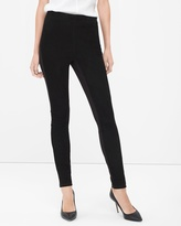 White House Black Market Suede Front Leggings