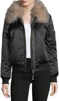 Mackage Long-Sleeve Zip-Front Bomber Jacket w/ Fur Collar
