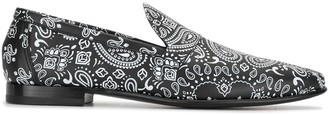 Pierre Hardy Jacno paisley print loafers