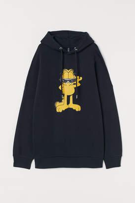 H&M Oversized Sweatshirt Hoodie - Black