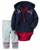 Carter's Girls' 3-Piece French Terry Cardigan Set
