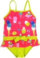 Pink Platinum Baby Girls Ice Cream One Piece Swimsuit, 12M