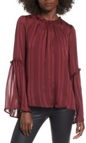 Lush Women's Shadow Stripe Blouse