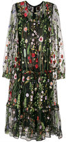 Odeeh embroidered floral dress