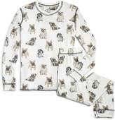 PJ Salvage Girls' Dog-Print Pajama Set