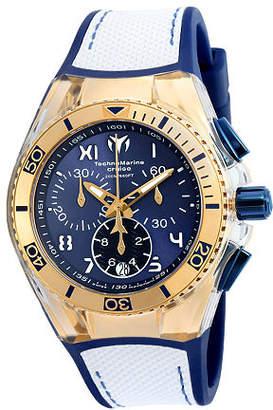 Technomarine Techno Marine Mens White Strap Watch-Tm-115018 Family