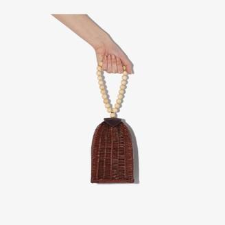 Ulla Johnson Red Raya Trapeze Woven Bracelet Bag