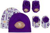 Gerber Baby Minnesota Vikings 4-Piece Cap & Bootie Set