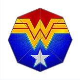 Custom Umbrella Wonder Woman Logo Custom Auto Foldable Sun Rain Anti-UV Umbrella Fashion Design