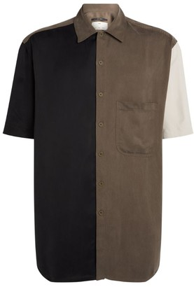 Song For The Mute Oversized Colour-Block Shirt