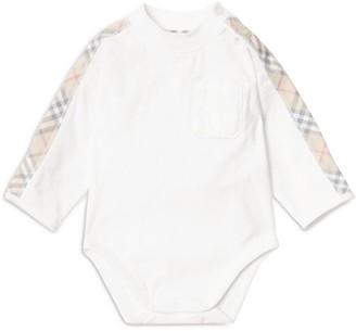Burberry Kids Check Panel Bodysuit