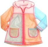 Billieblush Color Blocked Plastic Rain Coat