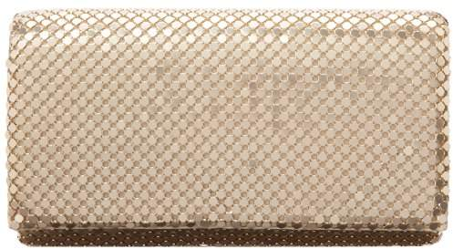 Jessica McClintock Metal Mesh Roll Evening Bag