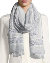 Faliero Sarti L'Acessorio Angie Virgin Wool-Blend Lace-Trim Scarf