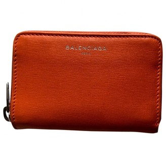 Balenciaga Orange Leather Small bags, wallets & cases