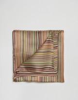Paul Smith Stripe Silk Pocket Square