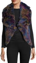 P. Luca Knitted Rabbit Fur Vest