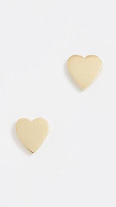 Jennifer Meyer 18k Gold Heart Stud Earrings