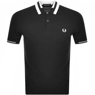 Fred Perry Block Tipped Polo T Shirt Black
