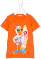 Moncler surfer duck print T-shirt