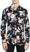 Reiss Vogal Floral Slim Fit Button-Down Shirt