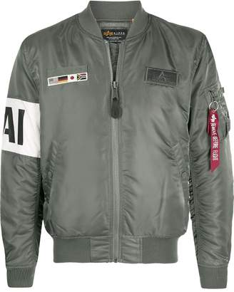 Alpha Industries MA-1 Air Force slogan jacket