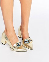 Asos SMOKIE Embellished Heeled Loafers
