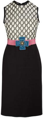 Gucci GG dual-fabric dress