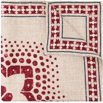 Brunello Cucinelli Floral-Print Square Handkerchief