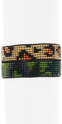 Ayounik Camo & Leopard Pattern Beaded Adjustable Bracelet Set