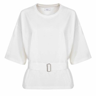 AME Elsa T Shirt With Belt Off White - S