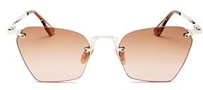 Le Specs Luxe Women's Pit Stop Rimless Square Sunglasses, 53mm