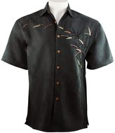 Bamboo Cay - Bamboos on the Loose, Tropical Style Embroidered Button Front Shirt