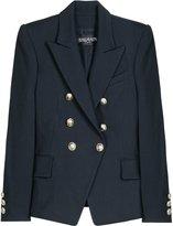 Wool Blend Navy Blazer