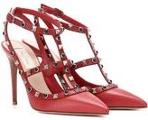 Valentino Garavani Rockstud Rolling leather pumps