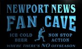 AdvPro Name tc2178-b Newport News Baseball Fan Cave Man Room Bar Beer Neon Light Sign