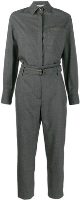 Brunello Cucinelli Long-Sleeve Tailored Jumpsuit