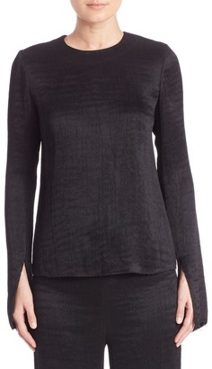 Tibi Accordian Acetate Top