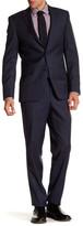 Simon Spurr Blue Woven Two Button Notch Lapel Wool Regular Fit Suit