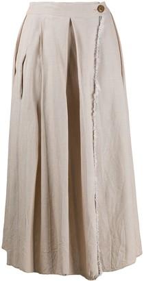 Danielapi Flared Midi Skirt