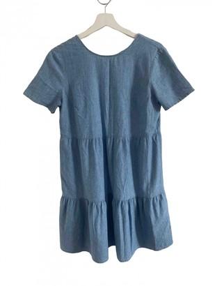 Sã©Zane SAzane Spring Summer 2019 Blue Cotton Dresses